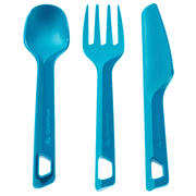 Set of 3 cutlery (knife, fork, spoon) hiker's camp plastic biru