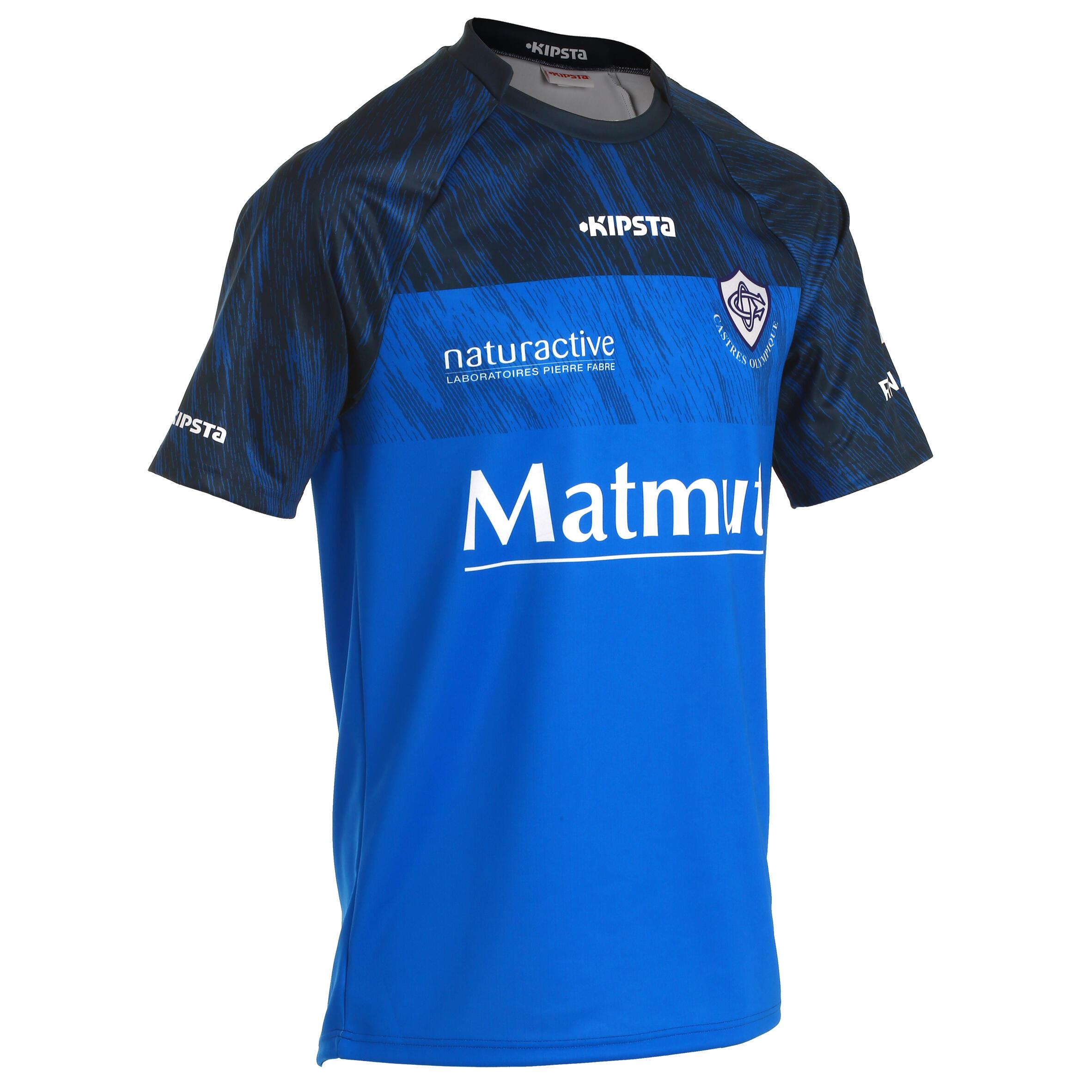 Rugby Heimtrikot 2016-2017 Castres Olympique TOP 14 Replica Erwachsene | Sportbekleidung > Trikots > Sonstige Trikots | Blau | Kipsta