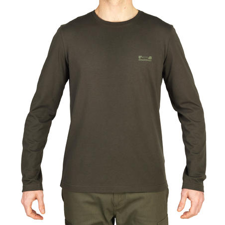 100 Long Sleeve Hunting T-shirt - Green