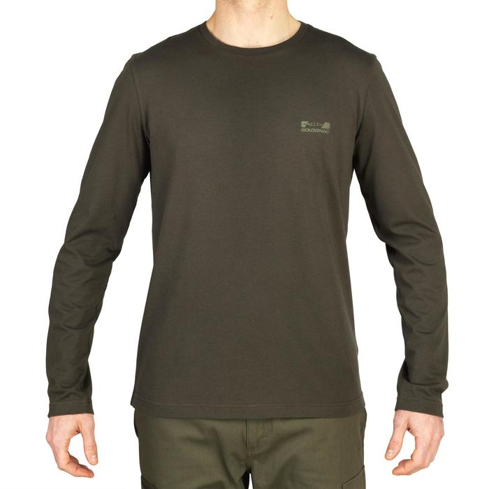 Shirt met lange mouwen voor de jacht 100 groen