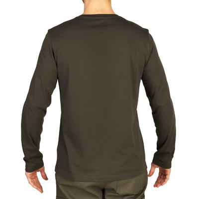 T-shirt manches longues chasse 100 vert