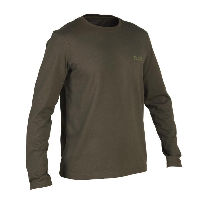 100 long-sleeved hunting t-shirt green