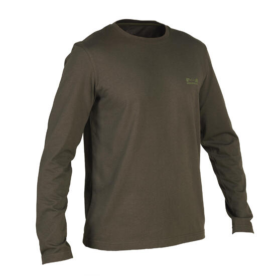 T-shirt Steppe 100 met lange mouwen camouflage Island - 1149826