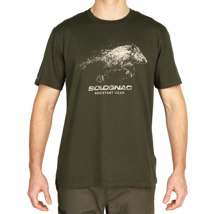 Camiseta de caza de manga corta 100 Jabalí