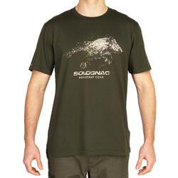 Jagersshirt met korte mouwen 100 Everzwijn