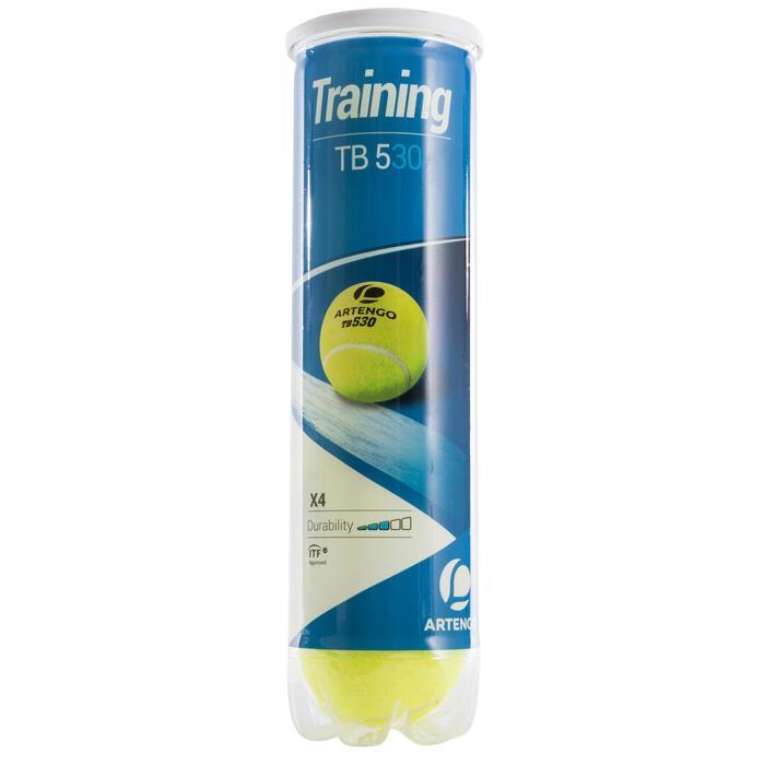 BALLES DE TENNIS ARTENGO TB530 BI PACK 2 TUBES DE 4 BALLES - 1149865