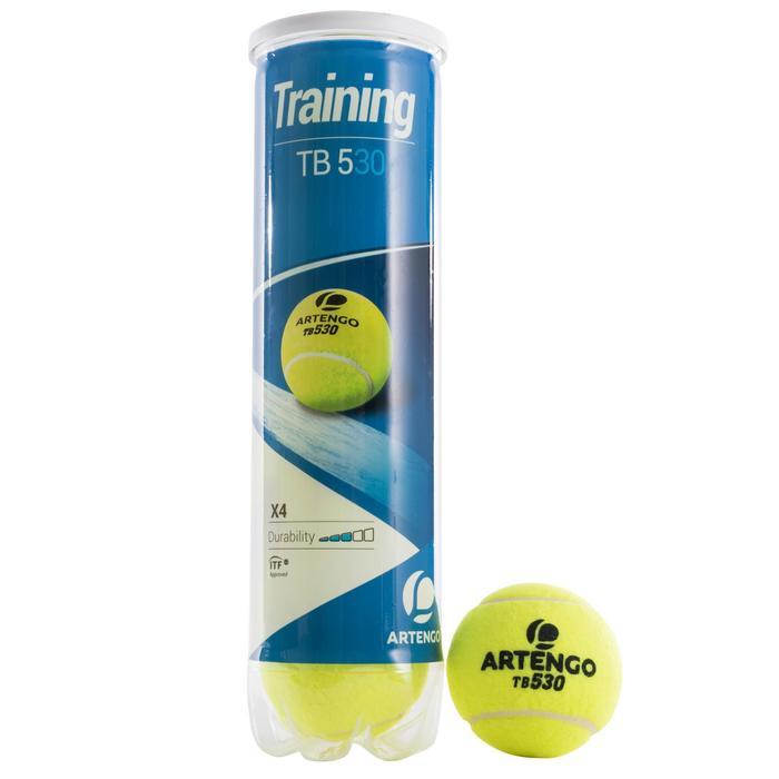 BALLES DE TENNIS ARTENGO TB530 BI PACK 2 TUBES DE 4 BALLES - 1149870