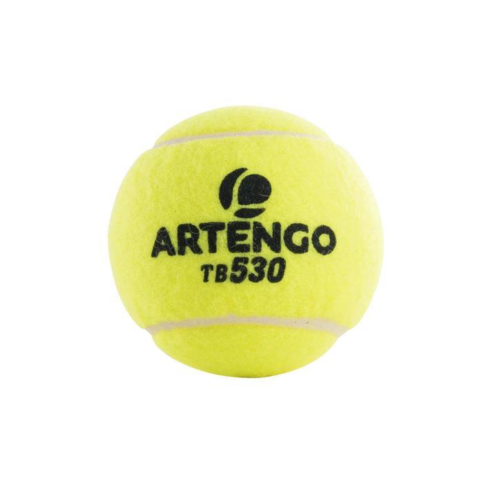 Tennisballen voor competitie TB 530 4 stuks geel