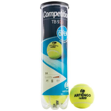 TB920 TENNIS BALLS 4-PACK - YELLOW
