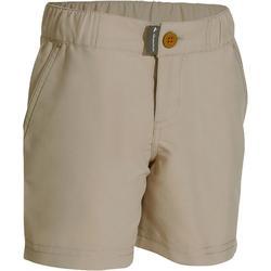 男童健行短褲 Hike 100-米色
