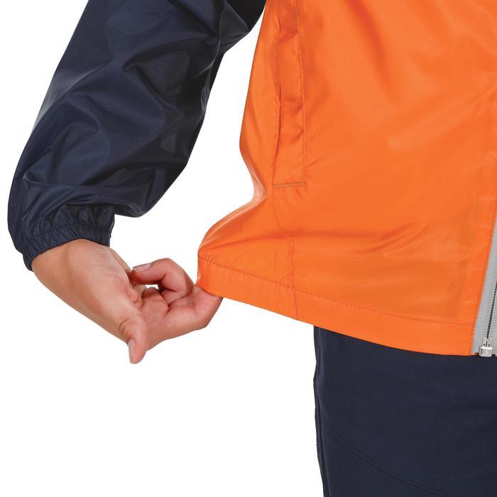 Chaqueta impermeable de senderismo júnior Hike 150 azul/naranja