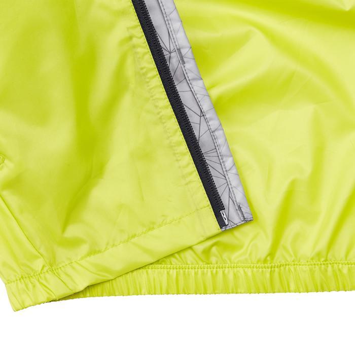Chaqueta impermeable de senderismo júnior Hike 150 gris/verde