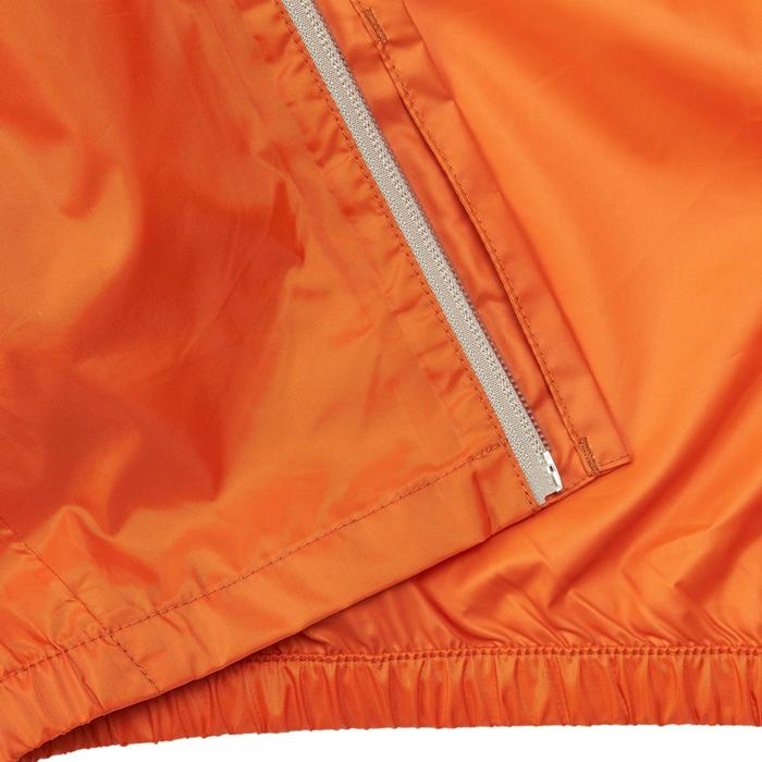 Kinder regenjas voor wandelen MH150 blauw/oranje 2 tot 6 jaar