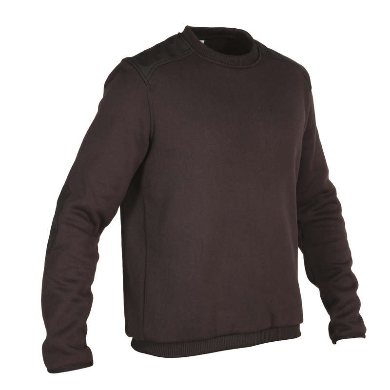 SWEATERS Shooting and Hunting - 300 PULLOVER BLACK SOLOGNAC - Hunting and Shooting Clothing
