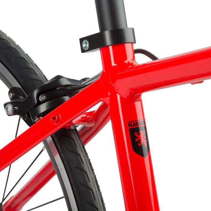 Triban 100 Racefiets 26 inch wielrenfiets voor kinderen. rood