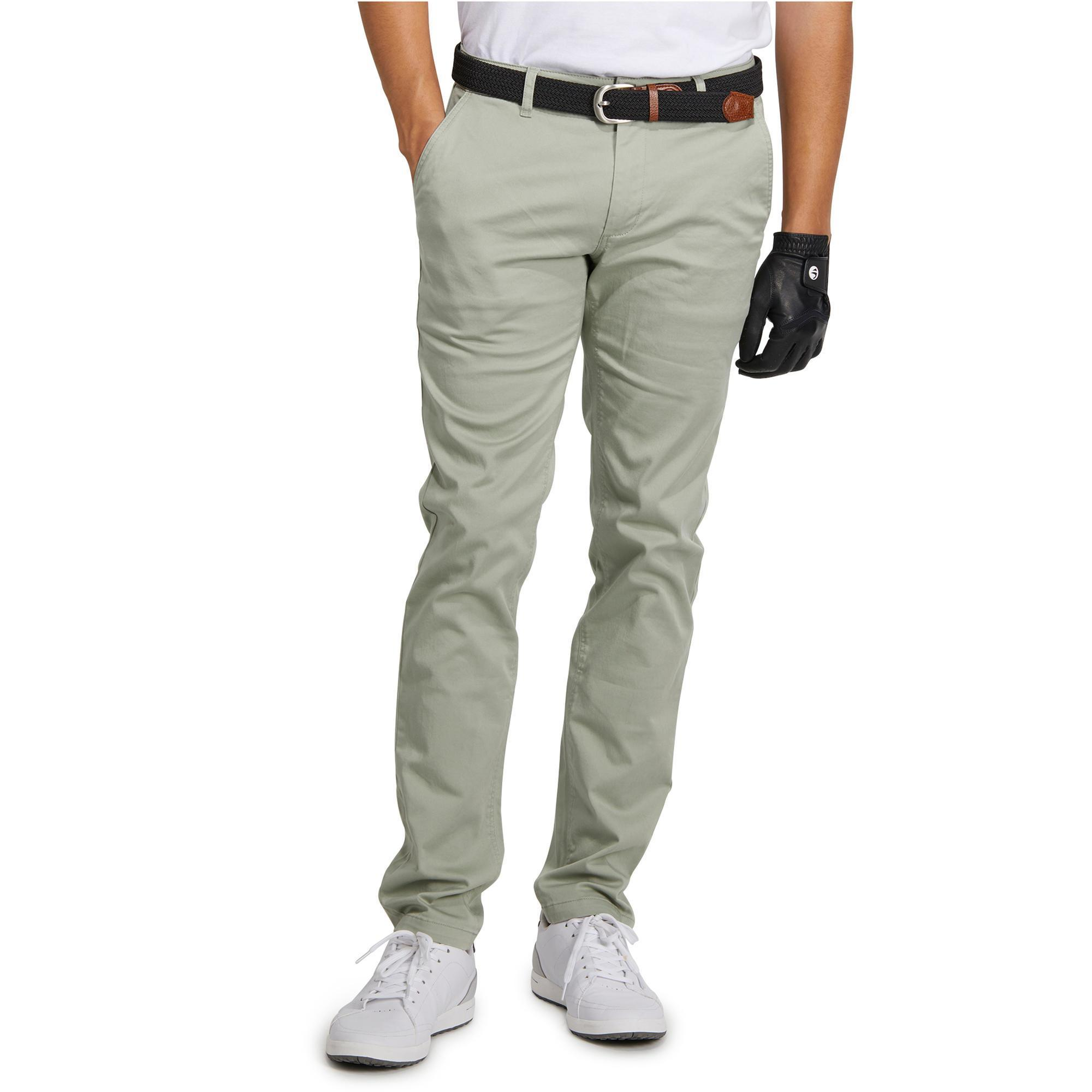 pantalon golf homme 500 vert clair inesis golf. Black Bedroom Furniture Sets. Home Design Ideas