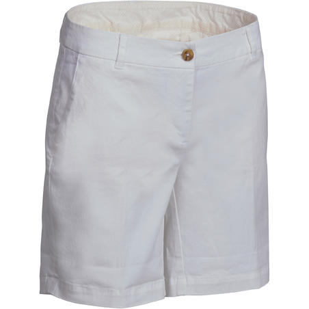 Women Golf Shorts 500 - White