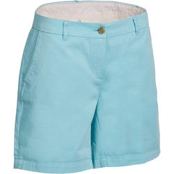 Women's Golf Bermuda Shorts 500 - Blue Lagoon