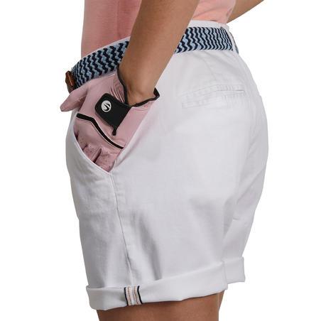 Celana Golf Bermuda Wanita 500 - Putih