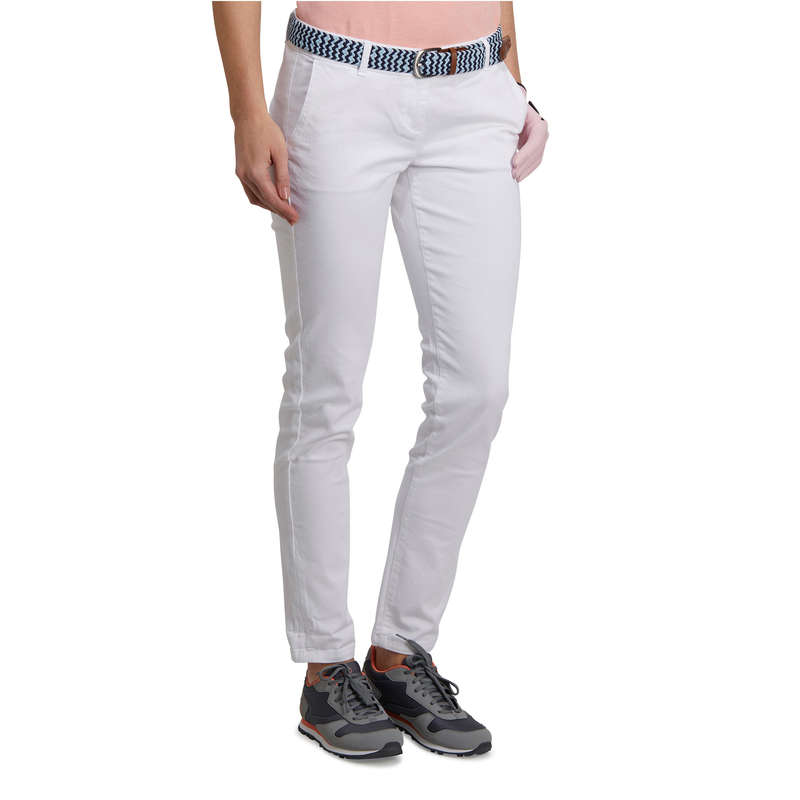 WOMENS MILD WEATHER GOLF CLOTHING Golf - Women Golf Trousers 500 White INESIS - Golf Clothing