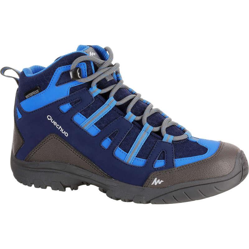 ОБУВЬ МАЛЬЧИКИ Удобная обувь для походов - Ботинки Nh500 mid дет.  QUECHUA - Бутик