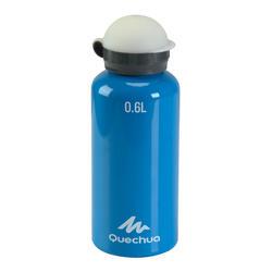 Drinkfles voor kinderen, sportdop met slangetje 0,6 liter aluminium - 115052
