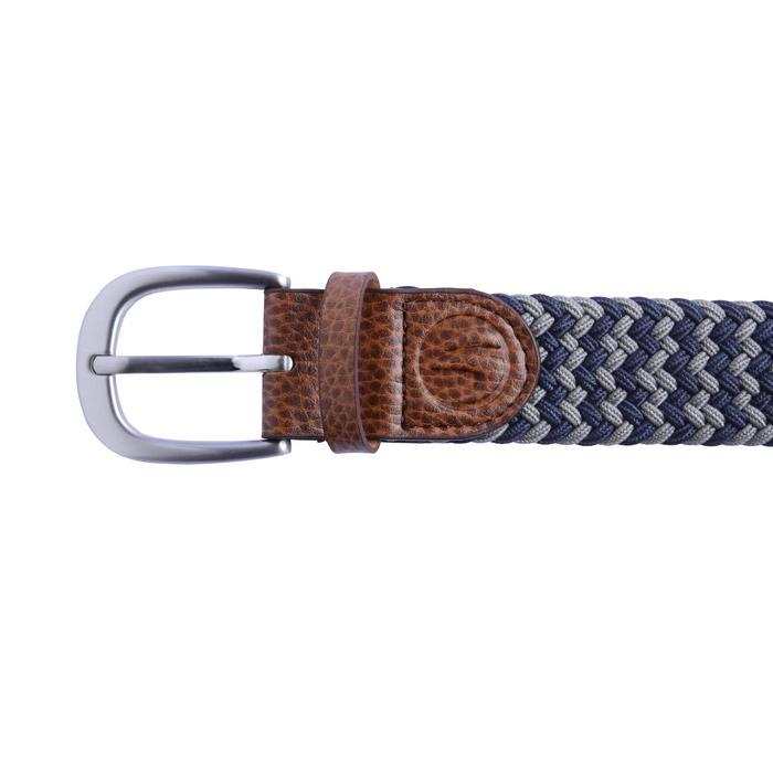 Rekbare riem 500 voor golf, volwassenen, marineblauw/grijs maat 2