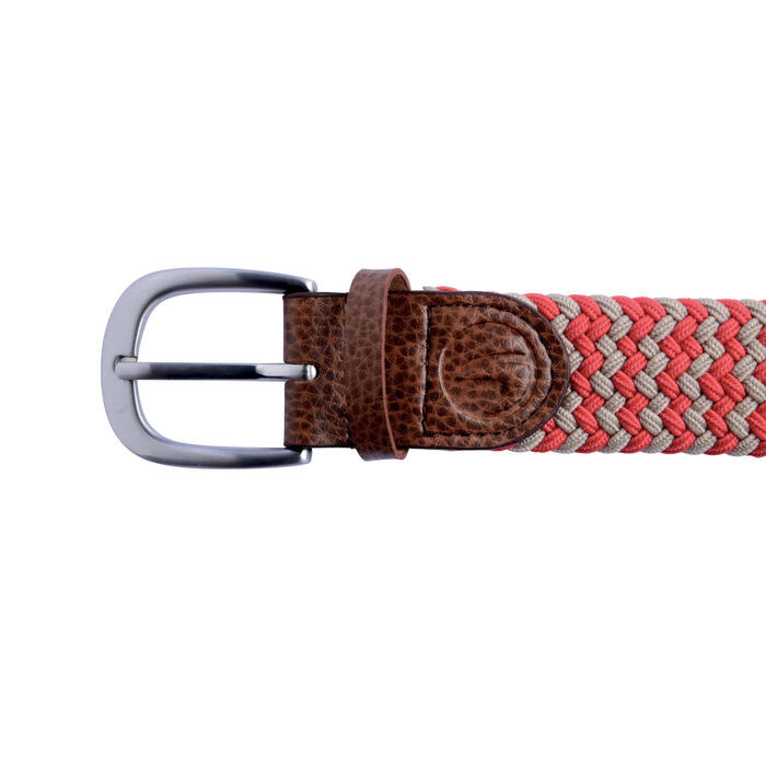 Cinturón de golf extensible 500 adulto rojo/beige talla 2