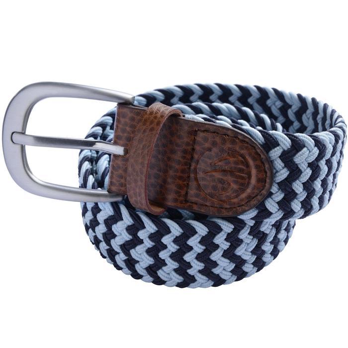 Rekbare riem 500 voor golf, volwassenen, marineblauw/lichtblauw maat 2