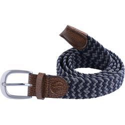 Cinturón de golf extensible 500 adulto azul mar/gris talla 2