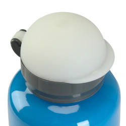 Drinkfles voor kinderen, sportdop met slangetje 0,6 liter aluminium - 115056