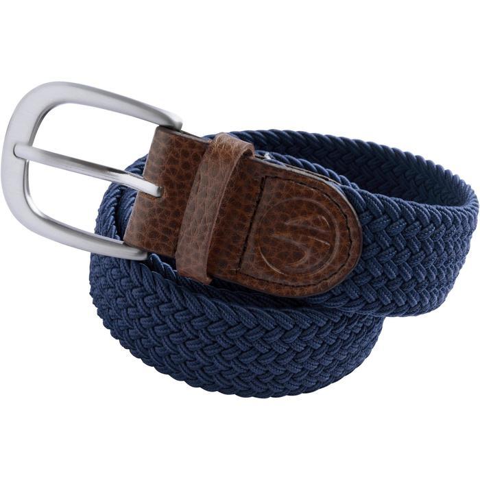Rekbare riem 500 voor golf, volwassenen, marineblauw maat 1