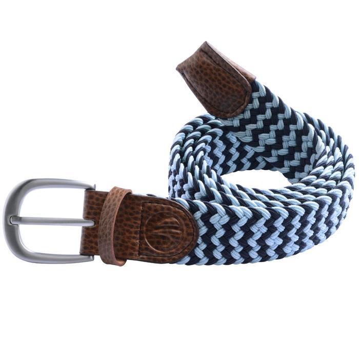 Cinturón de golf extensible 500 adulto azul marino/celeste talla 2