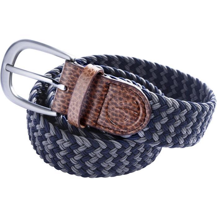 Rekbare riem 500 voor golf, volwassenen, marineblauw/grijs maat 1