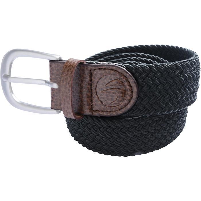 Rekbare riem voor golf volwassenen blauw zwart maat 1