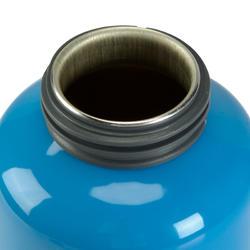 Drinkfles voor kinderen, sportdop met slangetje 0,6 liter aluminium - 115060