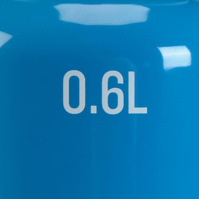 Gourde junior randonnée bouchon rapide avec pipette 0,6L aluminium bleu