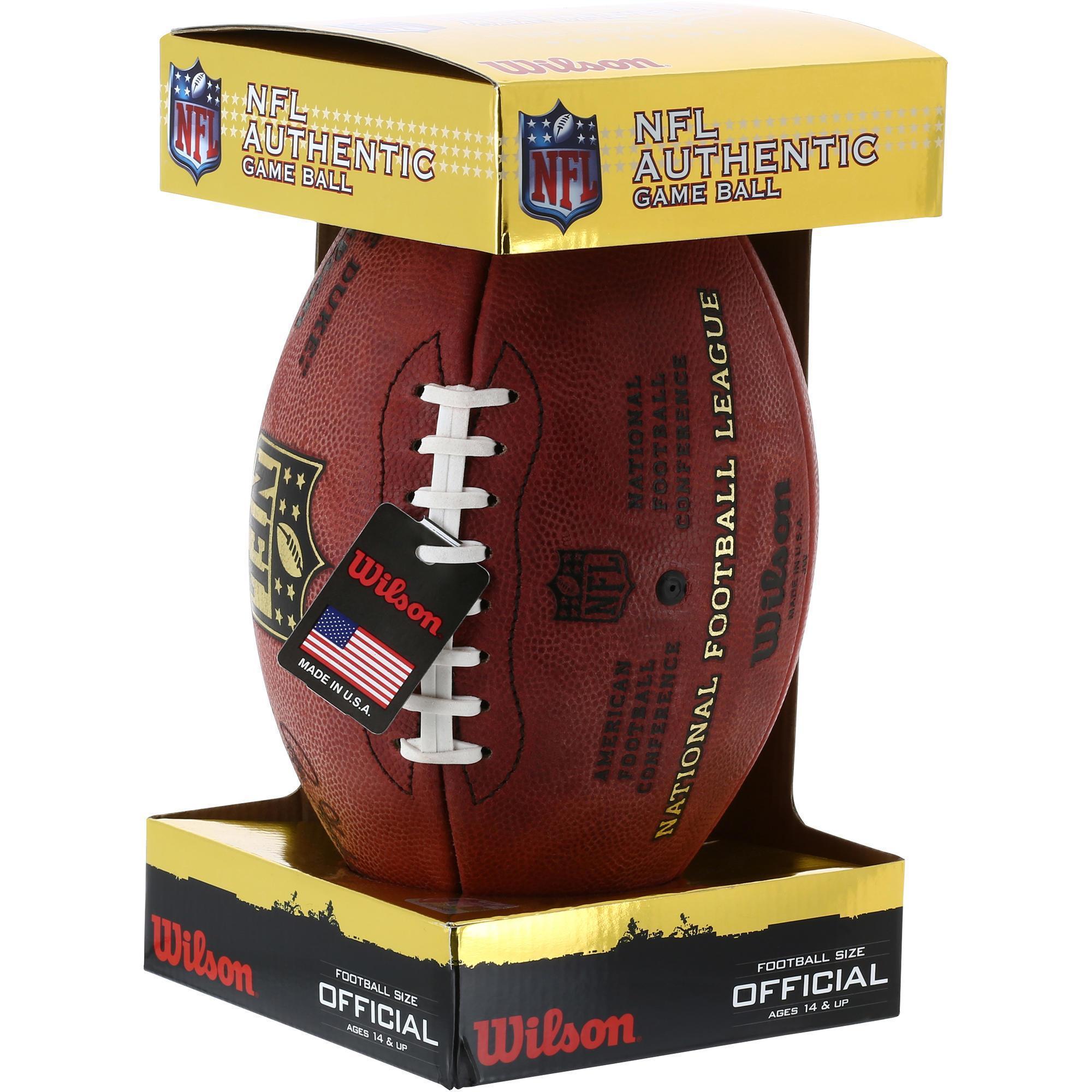 Wilson American football 'the Duke', officiële NFL bal kopen