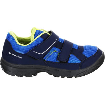 Kid's Hiking Shoes MH100 JR - Blue Jr size 5 - adult size 5