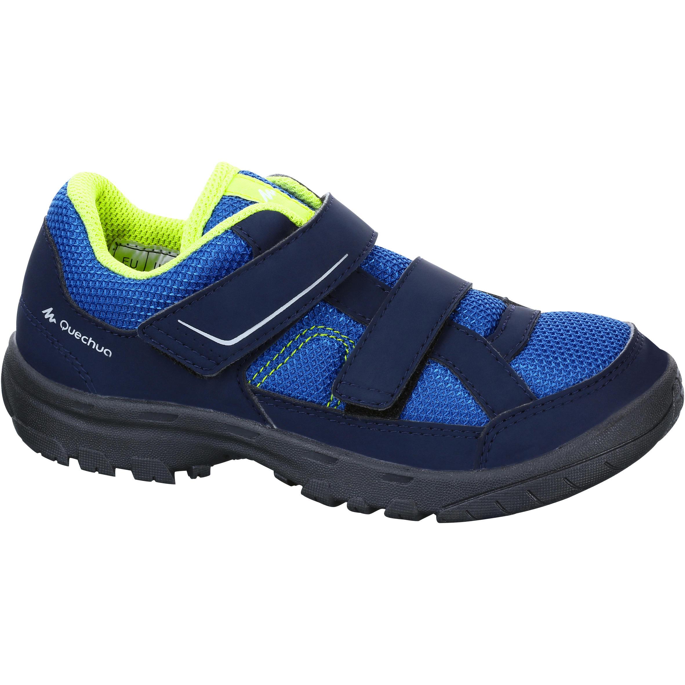 Kids hiking shoes NH100 - Blue
