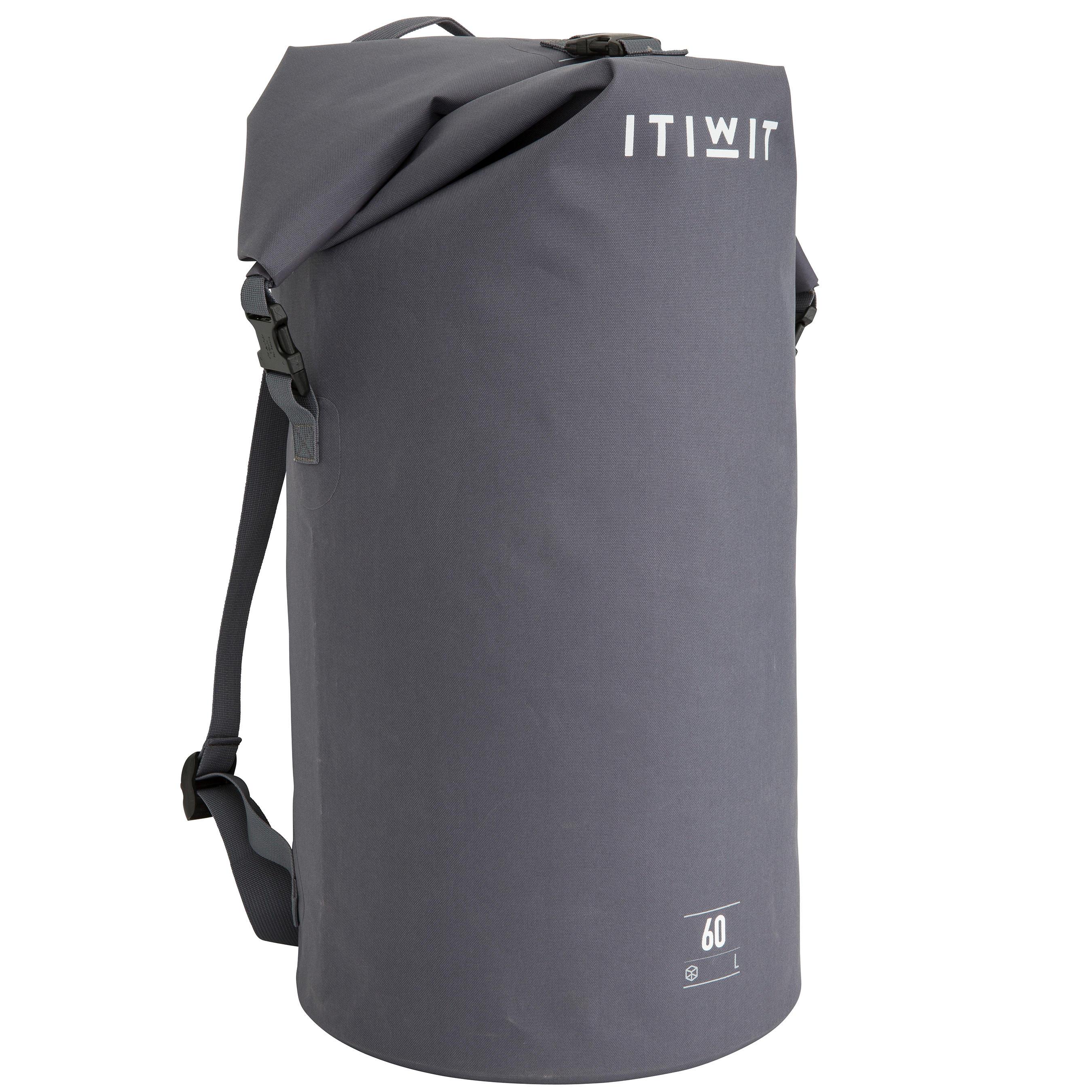60L Watertight Duffel Bag - Grey