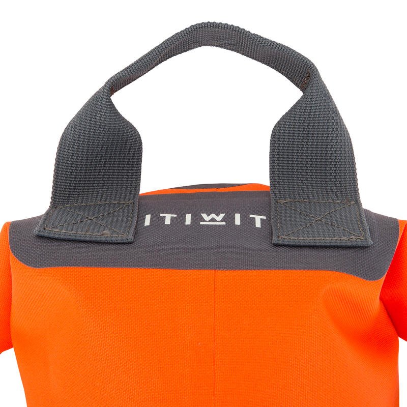 10L WATERTIGHT DUFFEL BAG WITHOUT A SHOULDER STRAP - ORANGE