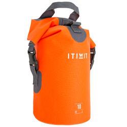 Wasserfeste Tasche 10l ohne Umhängegurt orange