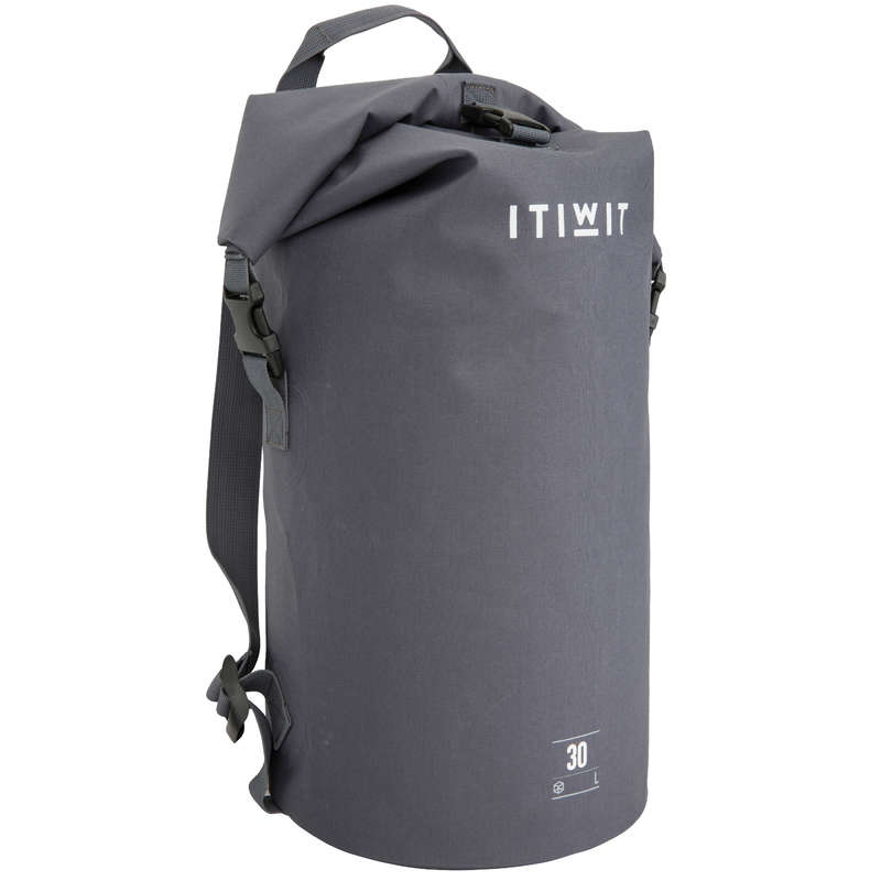 WATERPROOF BAGS Bags - Waterproof Dry Bag 30L - Grey ITIWIT - Bags