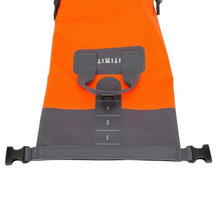 Waterdichte duffel bag 10 l oranje zonder schouderriem