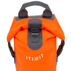 10L WATERTIGHT DUFFEL BAG WITHOUT A SHOULDER STRAP - ORANGE