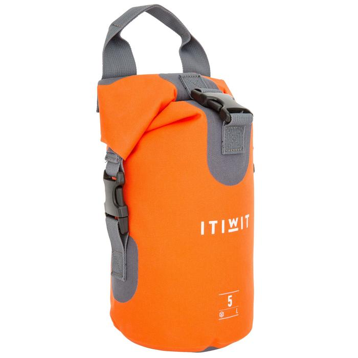 Waterdichte duffel bag 5 l oranje zonder schouderriem