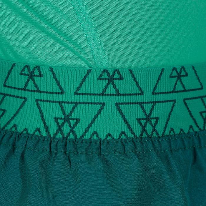 Jupe short de randonnée fille Hike 100 vert