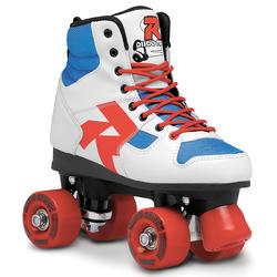 Fitness rolschaatsen Disco Palace wit/blauw/rood