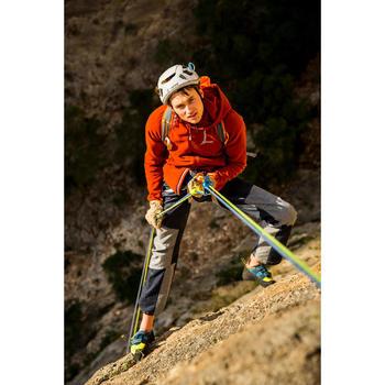 Technische klimjeans voor heren Rock blauw grijs